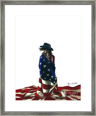 You Find Freedom Inside Framed Print by J Ferwerda