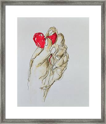 You Gave Me Your Heart, 1996 Framed Print by Stevie Taylor