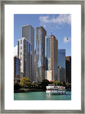 You Haven't Seen Chicago Until You've Been On The River Framed Print by Christine Till