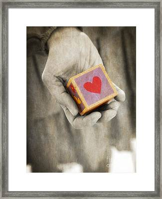 You Hold My Heart In Your Hand Framed Print by Edward Fielding