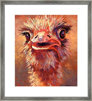 You Lookin At Me?? Framed Print by Judy Downs