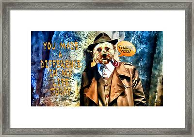 You Made A Difference Framed Print by Kathy Tarochione