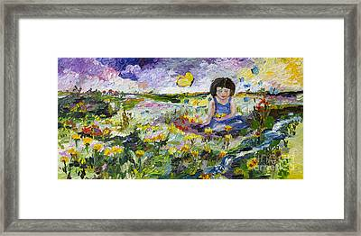You Will Find Me By The Brook Where The Butterflies Live Framed Print by Ginette Callaway