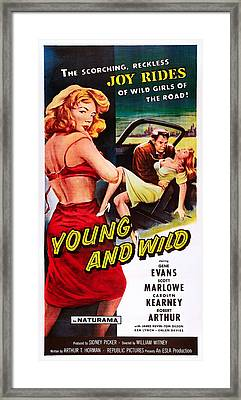 Young And Wild, Left Carolyn Kearney Framed Print by Everett