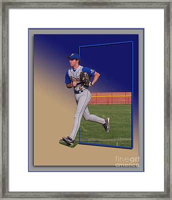 Young Baseball Athlete Framed Print by Thomas Woolworth