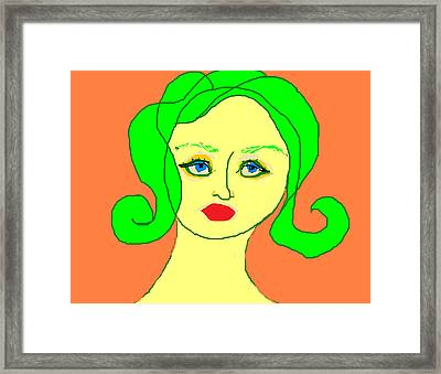 Young Bette Framed Print by Anita Dale Livaditis