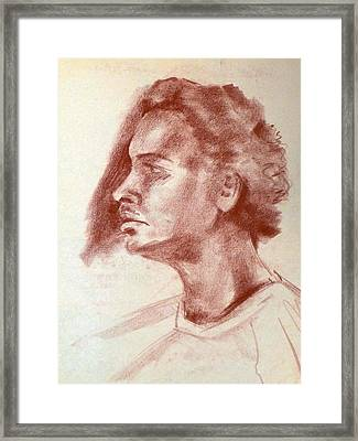 Young Black And Handsome Framed Print by Joan  Jones