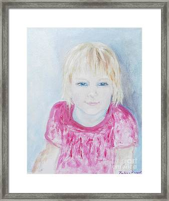 Young Blue-eyed Girl  Framed Print by Barbara Anna Knauf