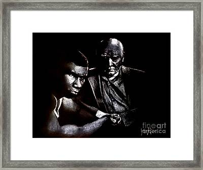 Young Boxer And Soon To Be World Champion Mike Tyson And Trainer Cus Damato Framed Print by Jim Fitzpatrick