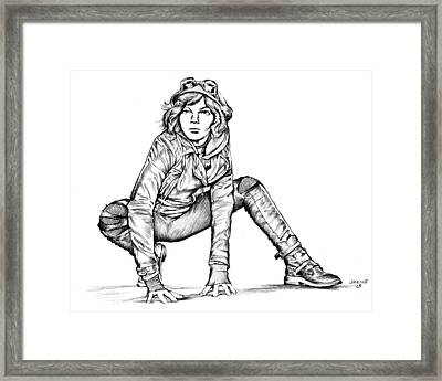 Young Catwoman 2 Framed Print by Greg Joens