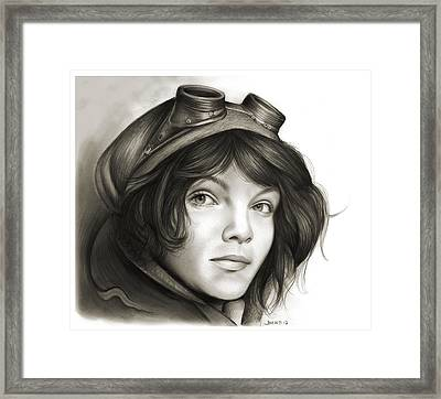 Young Catwoman Framed Print by Greg Joens