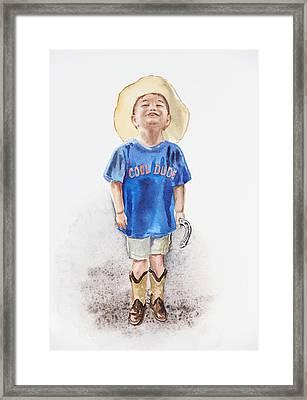 Young Cowboy  Framed Print by Irina Sztukowski