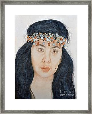 Young Filipina Beauty With A Mole Model Kaye Anne Toribio  II Framed Print by Jim Fitzpatrick
