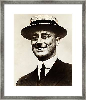 Young Franklin  Roosevelt Framed Print by Bill Cannon