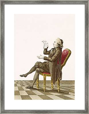 Young Gentleman Poet, Engraved Framed Print by Pierre Thomas Le Clerc