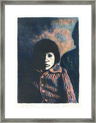 Young Girl Framed Print by Kendall Kessler