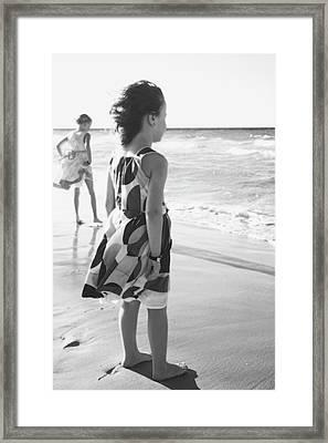 Young Girls At The Beach  Varadero, Cuba Framed Print by David Chapman