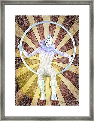 Young Harlequin Framed Print by Quim Abella