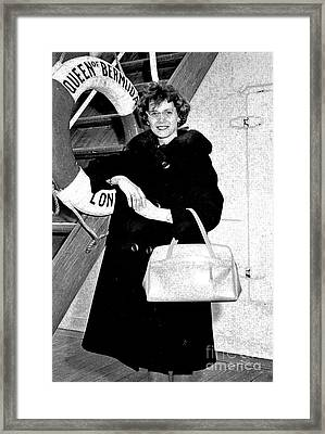 Young Lady On First Cruise Framed Print by Allan  Hughes