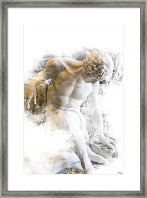 Young Man Framed Print by Evie Carrier