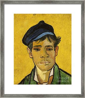 Young Man With A Hat Framed Print by Vincent Van Gogh