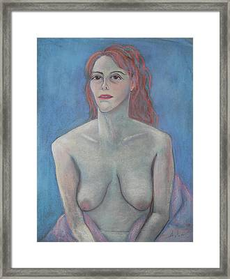 Young Mother Framed Print by Asha Carolyn Young