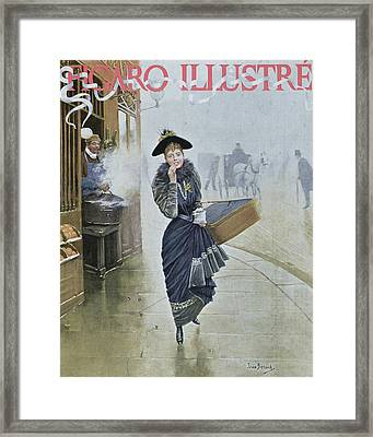 Young Parisian Hatmaker Framed Print by Jean Beraud