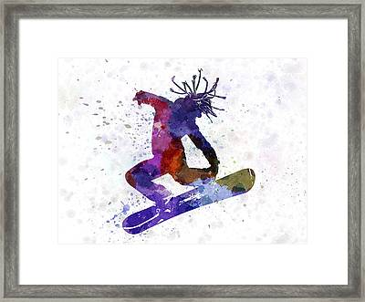 Young Snowboarder Framed Print by Pablo Romero