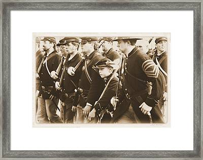 Young Soldier Framed Print by Judi Quelland
