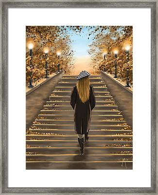 Young Woman Framed Print by Veronica Minozzi