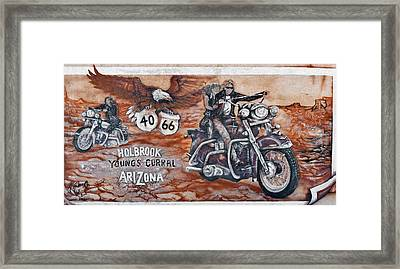 Young's Corral In Holbrook Az On Route 66 - The Mother Road Framed Print by Christine Till