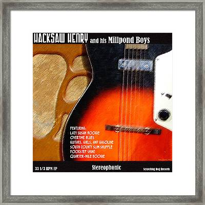 Your Band Name Here Lp Cover Art Framed Print by Everett Bowers