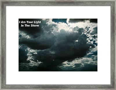 Your Light In The Storm Framed Print by Belinda Lee