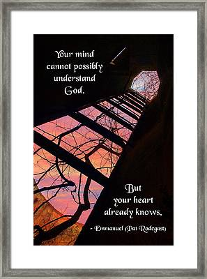 Your Mind Cannot Understand Framed Print by Mike Flynn