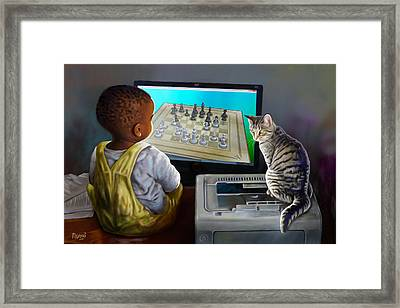 Your Move Framed Print by Anthony Mwangi