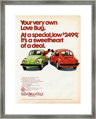 Your Very Own Love Bug Framed Print by Georgia Fowler