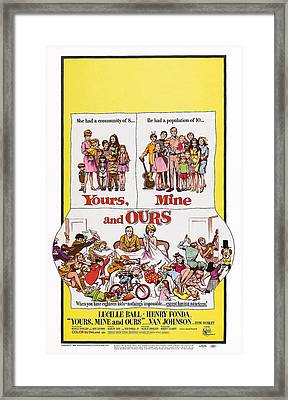 Yours, Mine And Ours, Us Poster Art Framed Print by Everett