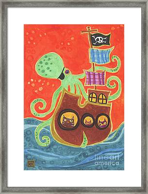 You've Been Pirated Framed Print by Kate Cosgrove