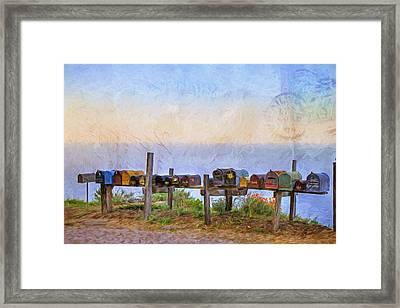You've Got Mail Framed Print by Donna Kennedy