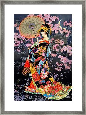 Yozakura Framed Print by Haruyo Morita