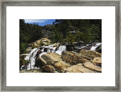 Yuba River Falls Framed Print by Donna Blackhall