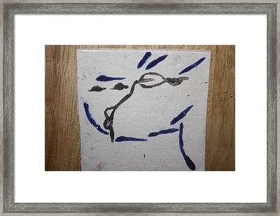 Yuko - Tile Framed Print by Gloria Ssali