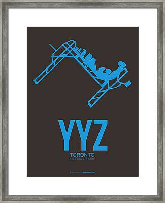 Yyz Toronto Airport Poster 2 Framed Print by Naxart Studio