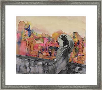 Z And The City Framed Print by Carolyn Doe