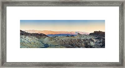Zabriskie Point Panorana Framed Print by Jane Rix