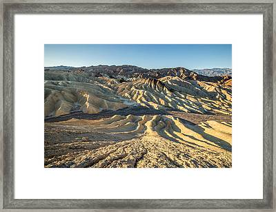 Zabriskie Point Spectacular Mountains  Framed Print by Pierre Leclerc Photography