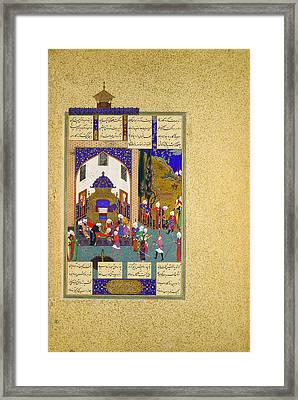 Zahhak Is Told His Fate Framed Print by Celestial Images