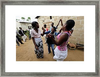 Zambian Theatre Group Framed Print by Matthew Oldfield