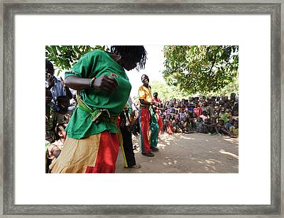 Zambian Theatre Group Performance Framed Print by Matthew Oldfield