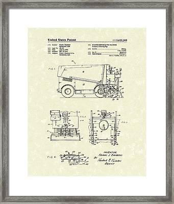 Zamboni 1971 Patent Art Framed Print by Prior Art Design